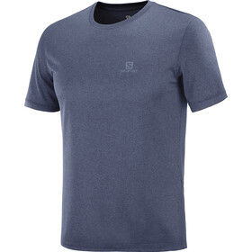 Salomon Explr SS Tee Men, night sky/mood indigo/heather